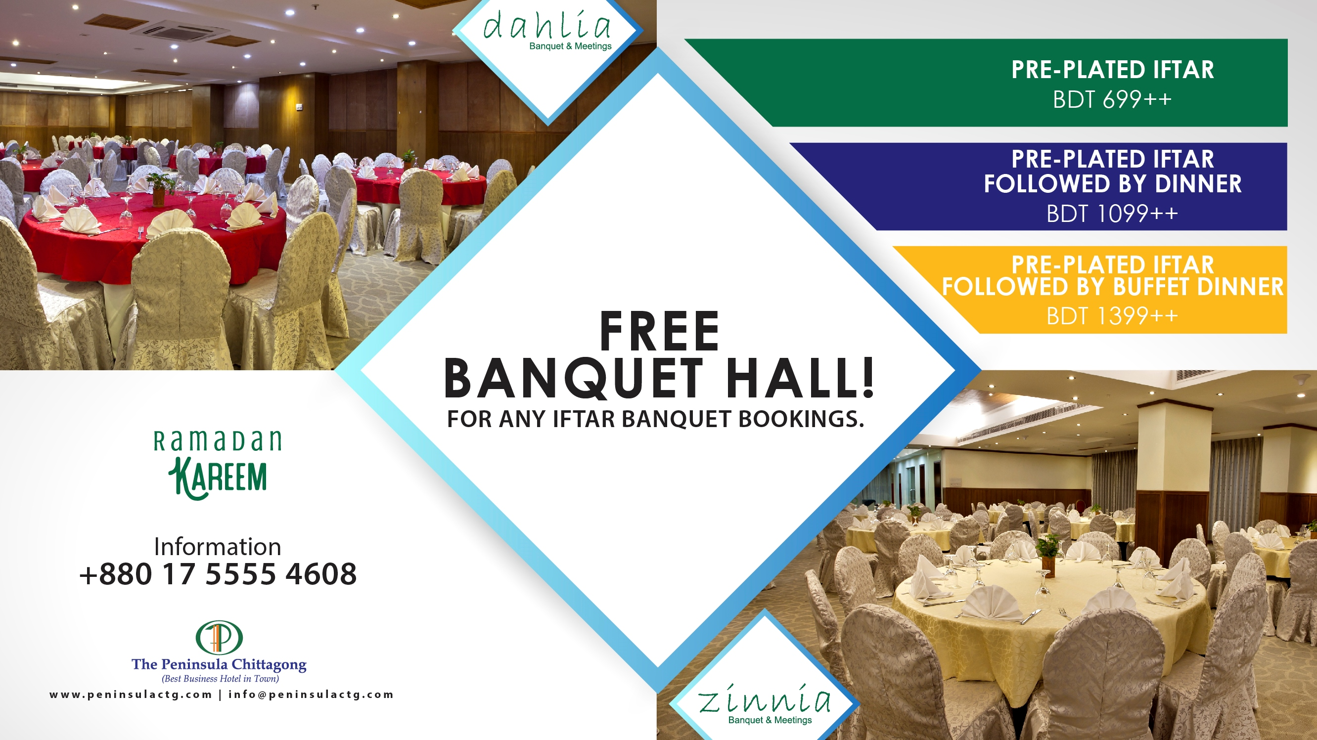FREE HALL! For all iftar banquet programs.