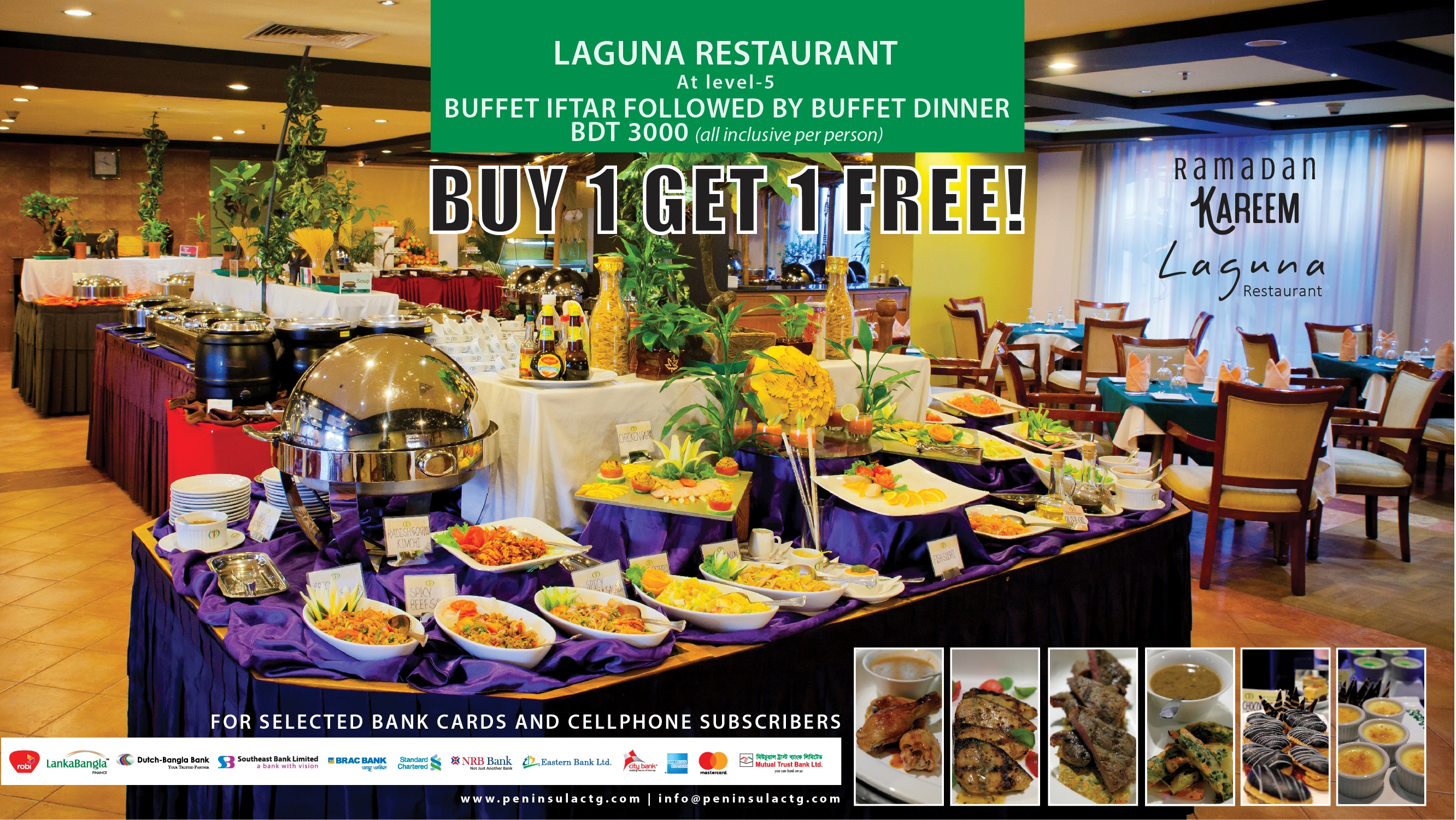 BUY 1 GET 1 FREE! Buffet Iftar followed by dinner.